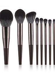 cheap -8 Pcs Long Aluminum Tube Makeup Brushes High-End Spray Makeup Rinse Kit Cross-Border Beauty Tools
