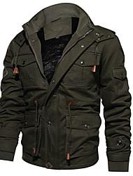 cheap -military Cotton Casual Stand Collar Windbreaker jacket bomber jacket for men winter jacket tactical jacket field jacket mens winter coat gray