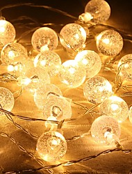 cheap -LED Bubble Ball Shape Battery Box Lighting Warm White Chain Christmas Party Festival Indoor Outdoor Decorative Lights
