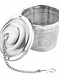 cheap -stainless steel tea infuser spice filter ball with extended chain hook brew loose leaf tea spices seasonings cooking supplies 1pc 6.5cm