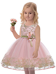 cheap -Princess Dress Party Costume Flower Girl Dress Girls' Movie Cosplay Princess Purple / Red / Dark Green Dress Children's Day Masquerade Polyester