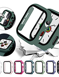 cheap -Cases For Apple Watch Series 6 / SE / 5/4 44mm / Apple Watch Series  6 / SE / 5/4 40mm / Apple Watch Series  3/2/1 38mm Plastic / Tempered Glass Compatibility Apple iWatch