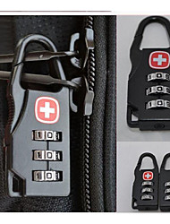 cheap -Alloy Mini Lock Padlock Outdoor Travel Luggage Zipper Backpack Handbag Safe Anti-theft Combination Code Number Lock Lock Tool