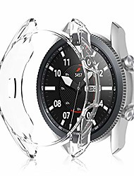 cheap -case compatible with samsung galaxy watch 3 41mm, soft tpu plated case protector bumper shell for galaxy smart watch 3 41mm sm-r850