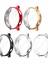 cheap -5 pack screen protector case for samsung galaxy watch active 2 44mm, flexible tpu case soft ultra-slim crystal clear protector cover for active 2 accessories (black/silver/clear/rose/red, 44mm)