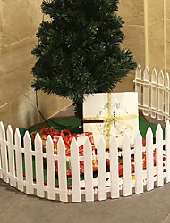 cheap -Christmas Tree Fence Christmas Scene Decoration Removable Plastic Fence-10Pcs 29*11cm