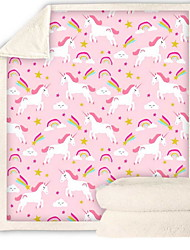 cheap -Unicorn Comfort Luxury Faux Fur Throw Blanket - Ultra Soft and Fluffy - Plush Throw Blankets for Couch Bed and Living Room - Fall Winter and Spring