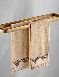 cheap -Towel Bar Contemporary Matte Brass Bathroom Two-tier Shelf for Household 1PC