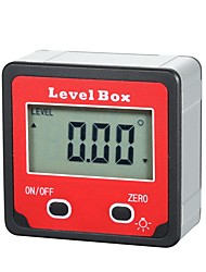 cheap -Digital Display Level Box Angle Gauge Digital Inclinometer Aluminum Alloy Shell Electronic Protractor with Backlight 4*90 Measuring Range