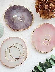 cheap -Imitation agate jewelry women retro jewelry storage tray