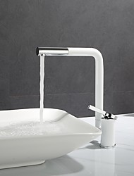 cheap -Bathroom Sink Faucet - Rotatable Painted Finishes Centerset Single Handle One HoleBath Taps