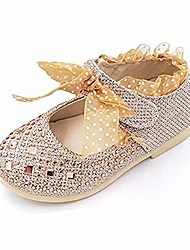 cheap -little girls ballet flats rhinestone sparkle mary jane princess party dress shoes