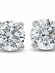 cheap -1/2ct round brilliant cut diamond stud earrings in 14k gold classic setting