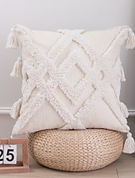 cheap -Cotton Pillow Cover Embossed Grid Pattern Square Traditional Classic 45x45cm