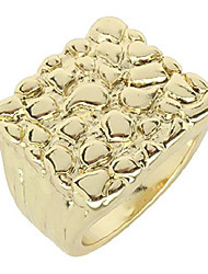 cheap -nugget design 14k gold plated square pinky fashion hip hop ring size 5-14 (14)