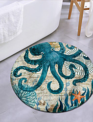 cheap -Ocean Baby Octopus Round Mat Carpet Door Mat Bedroom Living Room Carpet Study Room Carpet Kitchen Bathroom Anti-slip Mat