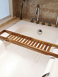 cheap -Bathroom Rack Bamboo Wood Multifunctional Red Wine and Mobile Phone Storage Bathtub Rack 1 pc