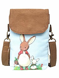 cheap -cell phone purse small crossbody bags wallet canvas with shoulder strap for women teen girlsl and students animal pattern (brown)