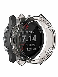 cheap -fit for garmin forerunner 245 music case, soft tpu stylish color frame shock scratch resistant proof cover protector shell bumper accessory fit for garmin forerunner 245m smartwatch (gray)