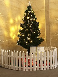 cheap -Christmas Tree Fence Christmas Scene Decoration Removable Plastic Fence-10Pcs