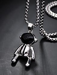cheap -Women's Men's Pendant Necklace Chain Necklace Drop Vertical / Gold bar Joy Gemini Lucky Hope Ethnic Fashion Punk Trendy Titanium Steel Alloy Silver 70 cm Necklace Jewelry 1pc For Street Sport
