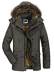 cheap -men's winter hooded military jacket thicken warm wool jacket parka (army green, large)