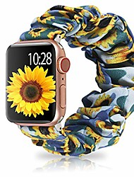 cheap -dresible adjustable band compatible with apple watch bands scrunchies 38mm 40mm,comfortable cute elastic scrunchy bands hair wristbands replacement for iwatch series 6/5/4/3/2/1, se blue 38/40