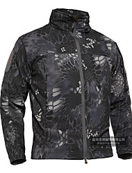 cheap -Men's Hiking Fleece Jacket Outdoor Thermal Warm Waterproof Windproof Wearproof Spring Fall Winter Camo Coat Top Terylene Camping / Hiking Hunting Fishing ACU Color CP Color Jungle camouflage