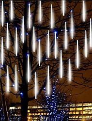 cheap -Falling Rain Lights Meteor Shower Lights Christmas Lights 30cm 8 Tube 144 LEDs Falling Rain Drop Icicle String Lights for Christmas Trees Halloween Decoration Holiday Wedding