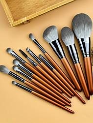 cheap -12 Pcs Casual Makeup Brush Set Loose Powder Eye Shadow Repair Brush Beginner Set Brush Super Soft Full Set of Quick-Drying Bristles