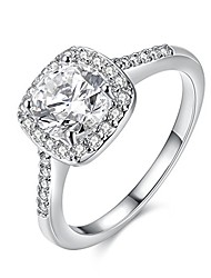 cheap -unique princess cut simulated diamond square cz crystal halo promise rings for her white gold plated wedding band women (platinum color, size 8) kr002