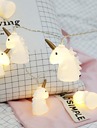 cheap -1.5M 10LEDs Unicorn Fairy Tale Garland String Lights Battery Operation Christmas String Lights Holiday Wedding Party Family Kids Bedroom Decoration Delivery Without Battery