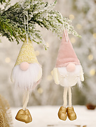 cheap -Christmas Celebration Decoration Supplies Flannel Faceless Doll Hanging Leg Pendant Creative Forest Elderly Doll Pendant