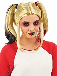 cheap -adults comic book character wig womens cosplay dip dye bunches hair accessory