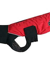 cheap -high collar cross dog coats for large dogs waterproof warm dog jacket for cold winter,red xl
