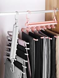 cheap -6 in 1 Multi-functional Trouser Storage Rack Adjustable Pants Tie Storage Shelf Closet Organizer Stainless Steel Clothes Hanger