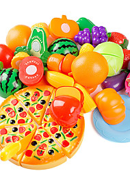 cheap -Play Kitchen Cutting Play Food Food&Drink Fruits & Vegetables Exquisite Parent-Child Interaction Soft Plastic Kid's Boys' Girls' Toy Gift 15 pcs