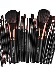 cheap -makeup brush set, 22pcs cosmetic makeup brush blusher eye shadow brushes set kit (black)