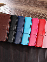 cheap -Case For OPPO OPPO Reno Ace / Oppo Realme 6 / Realme 6S / Oppo Reno 3 5G / Find X2 Lite Card Holder / Flip / Magnetic Full Body Cases Solid Colored PU Leather / TPU