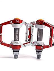 cheap -Bike Pedals Flat & Platform Pedals Sealed Bearing Anti-Slip Lightweight Sealed Bearing Bearing Alumium Alloy for Cycling Bicycle Mountain Bike MTB Red / White