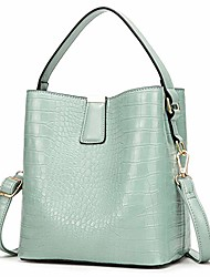 cheap -crossbody bags for women designer handbags ladies bucket shoulder purses faux leather (mint green)