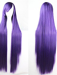 cheap -40 inches 100cm long straight wig heat resistant synthetic fiber cosplay costume wig for women and girls halloween party wig 320 grams