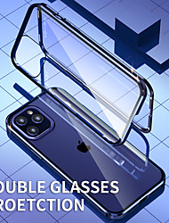 cheap -Magnetic Case For Apple iPhone 12 / iPhone 12 Mini / iPhone 12 Pro Max Shockproof / Transparent Full Body Cases Transparent Metal