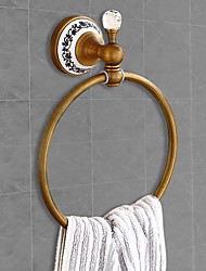 cheap -Bathroom Antique Brass Towel Ring Contemporary Matte Brass Wall Mounted Bathroom Accessory 1PC