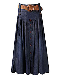cheap -women vintage a line flared elastic waist denim jeans long skirt,navy_02,us m-asian label 3xl