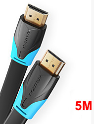 cheap -Vention HDMI to HDMI Cable Flat HDMI2.0 Cable Male to Male 4K*2K 18Gbps Supports Ethernet 3D 4K Video for HDTV PS3/4 5m