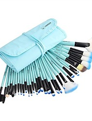 cheap -32pcs set professional makeup brush foundation eye shadows lipsticks powder make up brushes tools w/bag pincel maquiagem blue