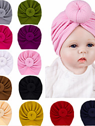 cheap -1pcs Toddler / Infant Girls' Basic Black / White / Red Solid Colored Pure Color Spandex / Cotton Hair Accessories White / Black / Purple One-Size