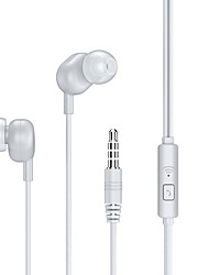 cheap -Remax RW-105 Wired In-ear Earphone 3.5mm Headphone 3.5mm Microphone InLine Control for Travel Entertainment
