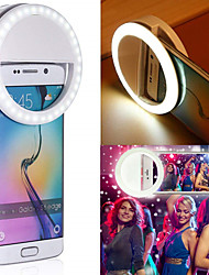 cheap -RK-12 Mini Mobile Phone LED Beauty Fill Light Clip Camera Adjustable Brightness Mobile Phone White Ring Light Home Photography